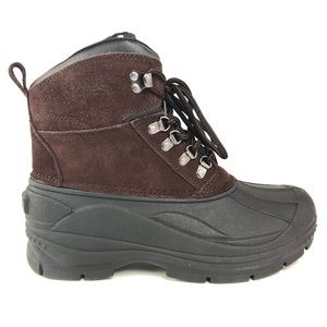 Totes Mens Surface Leather Waterproof Winter Boots